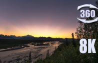360 8K video of a Sunset over Denali