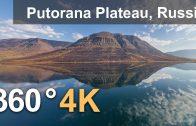 360°, Putorana Plateau, Russia. 4K aerial video