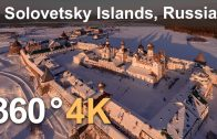 Solovetsky Islands, Russia. Aerial 360 video in 4K
