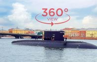 VR 360 video – russian submarine surfaced in the city center! What's happened??? (360 degree video)