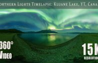 Northern Lights over Kluane Lake, Yukon, Canada (15K 360)