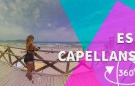 Peculiar village by a beautiful Majorcan beach ES CAPELLANS – VR 360º