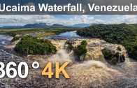 360°, Canaima Lagoon, Venezuela. Part I. Ucaima Waterfall. 4K aerial video