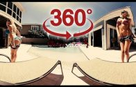 360 video VR Girl – Jacqueline with Natasha in Pool ( Video for Oculus Go )