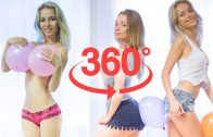 360 VIDEO VR GIRL – Natasha & Bella balloon Undress Challenge (#BalloonChallenge)