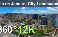 Rio de Janeiro. City Landscapes. Aerial 360 video in 12K
