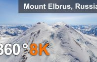 360°, Mount Elbrus, Russia. 8K aerial video