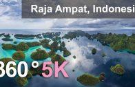360°, Raja Ampat archipelago, Indonesia, 5K aerial video