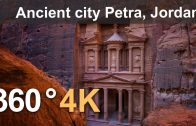 360 video, Ancient city Petra, Jordan. 4K aerial video