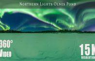 360 video of Northern Lights over Olnes Pond, Fairbanks, Alaska