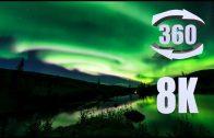 8K 360 video of the Aurora Borealis over Alaska's Chantanika River