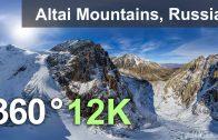 Altai Mountains, Russia. 360 12K aerial video