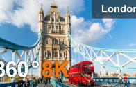 London, United Kingdom. Virtual travel. 360 video in 8K