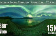 Northern Lights over Kluane Lake, Yukon, Canada (15K 360)