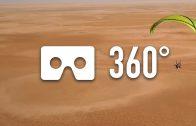 Paragliding fly above Chott El Jerid – 360° VR