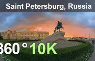 Saint Petersburg, Russia. Virtual travel. Aerial 360 video in 10K