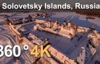 Solovetsky Islands, Russia. Aerial 360 video in 4K