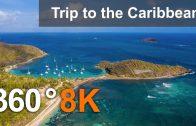 Trip to the Caribbean. Aerial & underwater 360 video in 8K