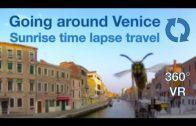 Venetian lagoon. Boat tour around Venice 360 VR (timelapse)